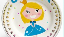 Girl Princess Fantasy name plate. Personalized dinner plate for kids. PersonalizedKidsPlates.com