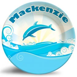 dolphin fantasy personalized name plate.