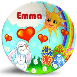 Easter Bunny personalized name plate