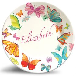 Floral Butterflies personalized name plate