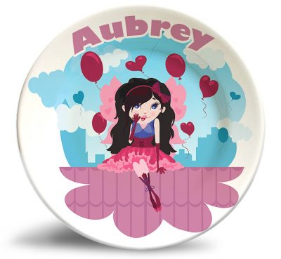 Valentine Girl personalized name plate.