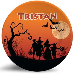 Halloween personalized dinner name plate for kids
