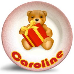 Christmas Bear personalized name plate