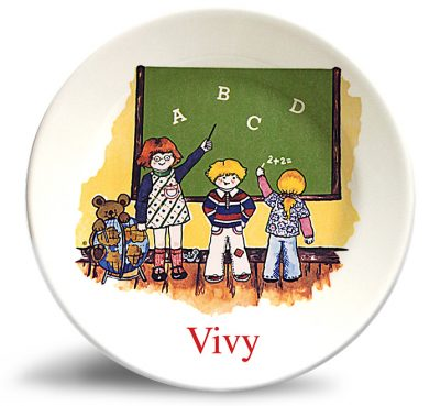 Classroom. Personalized vintage, melamine dinner plate by Randesign