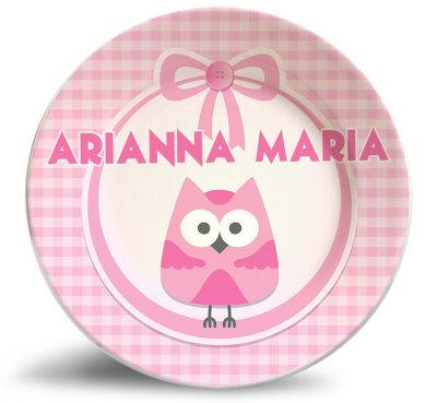 Girl's birthday personalized dinner name plate for kids