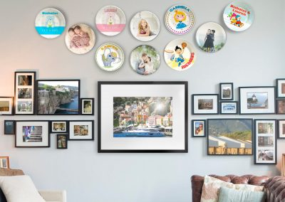 Unique wall decor for your personalized dinner plates