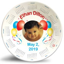 "Our ""Birthday Calendar Photo Plate"" is our most personalized plate to date."