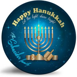 Hanukkah holiday personalized plate
