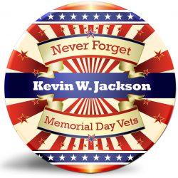 """Never Forget"" Memorial Day gift for veterans."
